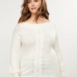 Lane Bryant Sweaters - Lane Bryant Cable Knit Sweater NWT Size 22/24